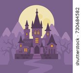 dark vampire castle in the... | Shutterstock .eps vector #730684582