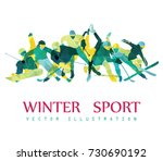 color sport background. hockey  ... | Shutterstock .eps vector #730690192