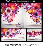 flower spring background set. | Shutterstock .eps vector #73069471