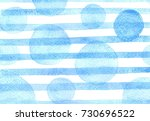 watercolor blue pattern with... | Shutterstock . vector #730696522