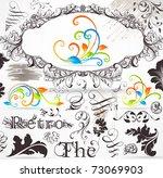vector set  calligraphic design ... | Shutterstock .eps vector #73069903