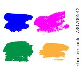 set of hand painted colorful... | Shutterstock .eps vector #730700542