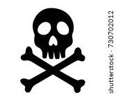 skull and crossbones icon on... | Shutterstock .eps vector #730702012