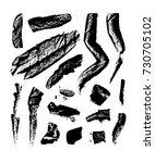 textured brush strokes made... | Shutterstock .eps vector #730705102