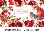 vector horizontal banner with... | Shutterstock .eps vector #730708486