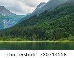 jagersee in austrian alps ... | Shutterstock . vector #730714558