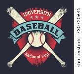 baseball vintage grunge poster... | Shutterstock .eps vector #730720645