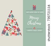 greeting card with holiday... | Shutterstock .eps vector #730721116