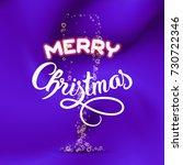 merry christmas. champagne...   Shutterstock .eps vector #730722346