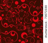 Seamless Red Floral Pattern.