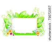 spring floral frame vector...   Shutterstock .eps vector #73072357