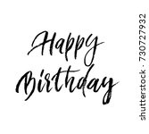 happy birthday greeting card... | Shutterstock .eps vector #730727932