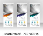 roll up banner stand template... | Shutterstock .eps vector #730730845