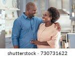 affectionate african couple... | Shutterstock . vector #730731622