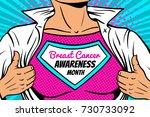pop art superhero. closeup of... | Shutterstock .eps vector #730733092