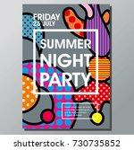 poster template with bauhaus ... | Shutterstock .eps vector #730735852