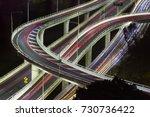 aerial view of modern urban... | Shutterstock . vector #730736422