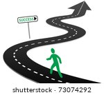 person with initiative to begin ... | Shutterstock .eps vector #73074292