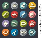 bacteria vector icon set | Shutterstock .eps vector #730747615