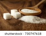 close up the sugar cubes and... | Shutterstock . vector #730747618