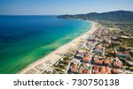 little town by the sea coast | Shutterstock . vector #730750138