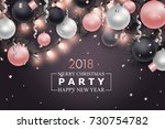 christmas and new year... | Shutterstock .eps vector #730754782
