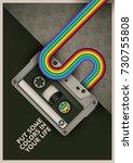 conceptual retro poster design... | Shutterstock .eps vector #730755808