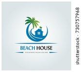 beach house logo design...   Shutterstock .eps vector #730757968