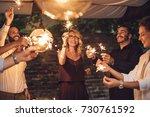 group of handsome men and... | Shutterstock . vector #730761592