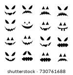 jack o lantern smile silhouette ... | Shutterstock .eps vector #730761688
