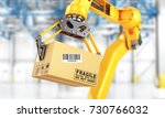 factory manipulator. automatic... | Shutterstock . vector #730766032