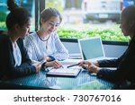 business team working on... | Shutterstock . vector #730767016