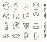 body parts line icon set | Shutterstock .eps vector #730774528
