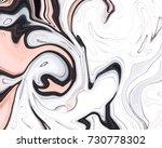 stylish liquid ink pink marble... | Shutterstock .eps vector #730778302