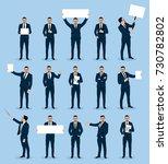businessman in various poses ... | Shutterstock .eps vector #730782802