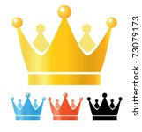 crown illustration. gold  blue  ... | Shutterstock .eps vector #73079173