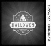 halloween vector illustration... | Shutterstock .eps vector #730793248