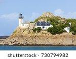 lighthouse on louet island in... | Shutterstock . vector #730794982