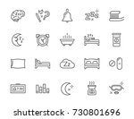 set of minimal sleep time... | Shutterstock . vector #730801696