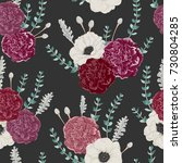 seamless pattern with carnation ... | Shutterstock .eps vector #730804285
