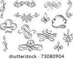 perfect design elements for... | Shutterstock . vector #73080904