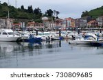 boats and yachts at the marina... | Shutterstock . vector #730809685