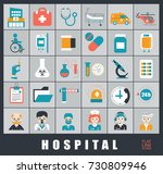 collection of medical icons.... | Shutterstock .eps vector #730809946