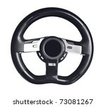 steering wheel on the white... | Shutterstock . vector #73081267