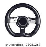 steering wheel on the white... | Shutterstock . vector #73081267