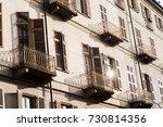 balconies in turin | Shutterstock . vector #730814356