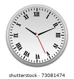 wall clock with the roman... | Shutterstock . vector #73081474