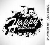 ink splatter happy halloween... | Shutterstock .eps vector #730818802