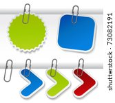 vector advertising labels with... | Shutterstock .eps vector #73082191