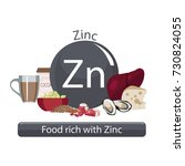 products rich with zinc. bases...   Shutterstock .eps vector #730824055